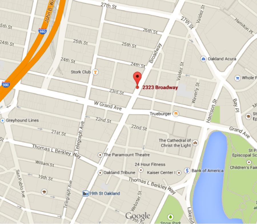 HUB Oakland Map